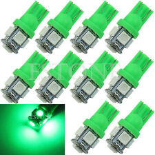 10Pcs T10 194 168 2825 5050 5SMD LED Super Bright Car Lights Lamp Bulb Green New