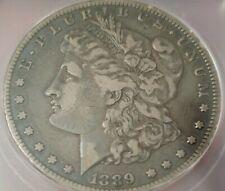 1889-CC Morgan Silver Dollar. Problem Free Coin. Graded at VF35 by ICG