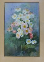 Ethel Wickes Floral Still life Watercolor Painting C.1930 Provenance GUMPS S.F.