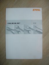 Reparaturanleitung für Stihl MS 200, MS 200T auch für 020T anwendbar + Teilelist
