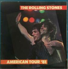 ROLLING STONES 1981 AMERICAN TOUR PROGRAM BOOK~TATTOO YOU~JAGGER~RICHARDS~WOOD
