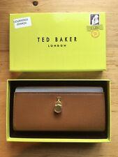 .**BNWT** TED BAKER - SYLIVI PADLOCK FLAP MATINEE PURSE - TAN. Presentation Box