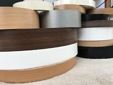 Melamine Pre Glued Iron on Edging Tape/Trim ** Many Widths & Colours ** Free P&P