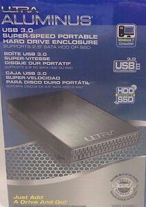 Ultra - U12-42063 - Aluminus USB 3.0 Super-Speed Portable Hard Drive Enclosure