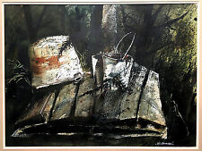 WILLIAM A BRACKEN Watercolor Painting Modern CONTEMPORARY EXPRESSIONISM Signed