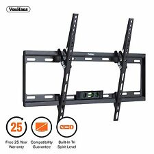 "VonHaus 37-70"" Tilt TV Wall Mount Bracket with Tri Spirit Level & 40kg Capacity"