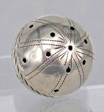 Re bola de plata siglo XVIII vinagreta Mano Grabado Diseño.