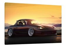 MK2 Mazda MX-5 - 30x20 Inch Canvas Framed Picture Wall Art