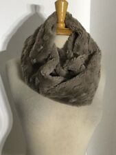 NWT Anthropologie Brown Faux Fur Infinity Scarf