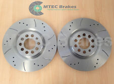 VW GOLF 312mm Front Drilled & Grooved Brake Discs New