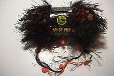 Lion Brand fancy fur yarn polyamide/poly 50 gr #255 jungle print black