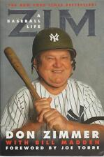 Don Zimmer Zim A Baseball Life Bio Coach Madden 2001 Joe Torre Forew Yankees