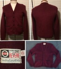 Vintage YOUNG BREED By REVERE Wool Mohair Cobain Fuzzy Grunge Cardigan Sweater M