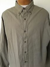 Men's Tailor Vintage Olive Button Front Shirt Size XL (F)