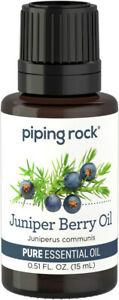 Piping Rock Juniper Berry Himalayan Pure Essential Oil - 1/2 fl oz (15 mL) Dropp