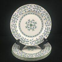 Set of 4 VTG Bread Plates Aynsley Forget Me Not Blue Floral Bone England