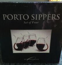 Hand Blown Glass Oenophilia Porto Sipper Set 4pcs Wine Port 17th Century Style