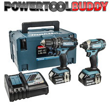 Makita dlx2131jx1 18 Volt Li-Ion Combi/impatto KIT 2 BATTERIE 3.0amp