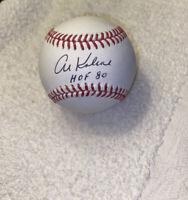 Al Kaline Signed Autographed OMLB Baseball Detroit Tigers HOF 80 Inscription