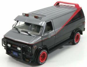 Greenlight 84072 gmc vandura cargo g.series van - a-team 1983 black grey met