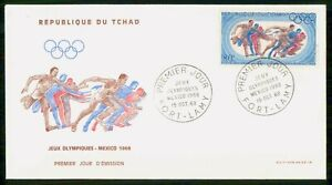 Mayfairstamps Chad 1968 Olympics Running First Day Cover wwk20415