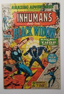 Amazing Adventures #8 VG- 3.5 Black Widow & Inhumans Signed by Neal Adams!