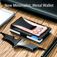 New Slim Carbon Fiber Credit Card Holder RFID Blocking Metal Money Clip Purse