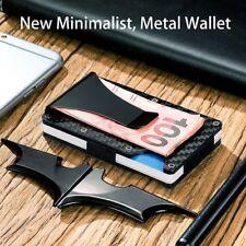 Slim Carbon Fiber Credit Card Holder RFID Blocking Metal Wallet Money Clip HQ