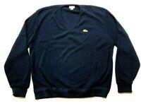 Izod Lacoste Mens Blue Long Sleeve Sweater Size XL