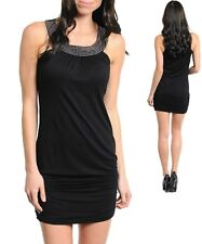 Sz S 8 10 Black Pearl Beaded Dance Party Cocktail Prom Club Bodycon Dress