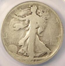 1921-D Walking Liberty Half Dollar 50C - ANACS G4 Details - Rare Certified Coin