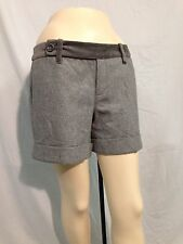 NWT PAPER BOY~ANTHROPOLOGIE~Grey Shorts Womens Sz 4 Wool ~ Lined