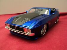 Jada  1973 Ford Mustang Mach1 1:24 Scale new  no box 2018 release blue