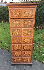 OLD TIBETAN WOOD HAND PAINTED CABINET 14 DRAWER CUPBOARD SPICE STORAGE CHEST