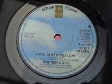 Andrew Gold: Comment cela peut être Amour-Toujours vous s'attarder sur: asile: K 13126