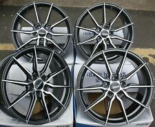 "19"" GMF TWIN ALLOY WHEELS FIT AUDI A4 B6 B7 B8 B9 A5 A6 A7 A8 SALOON M14"