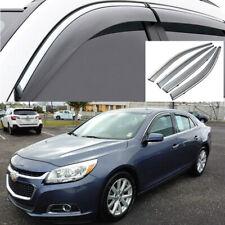 4pc Car Window Visor Vent Deflector Shade Guard for Chevy Malibu Sedan 2013-2015