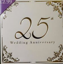 25th Silver  Wedding anniversary Invitations - 10 luxury cards & envelopes