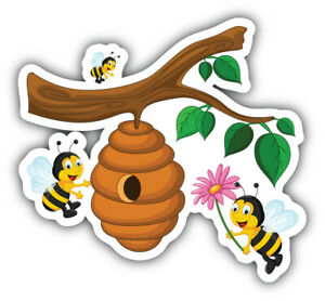 "Beehive Car Bumper Sticker Decal ""SIZES"""