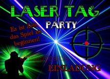 8 Einladungskarten Laser Tag Geburtstag Kinder Kindergeburtstag Einladungen