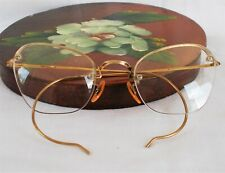 Antique B&L Arco Gold Filled Wire 1/2 Rim Eyeglass Frames CAT EYE Unique!!!