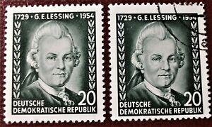 Briefmarken DDR 1954 Gotthold E. Lessing