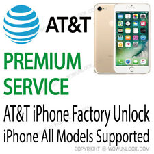 PREMIUM FACTORY UNLOCK SERVICE ATT AT&T iPhone 7 7+ 6S 6S+ Plus SE 6 6+ 5S 5C 5