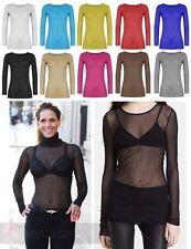 Markenlose taillenlange Langarm Damenblusen, - tops & -shirts