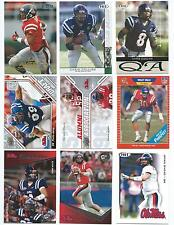 Lot of 20 Univ. Mississippi Rebels College Uniform Football Cards; 1989-2010