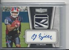 C.J. SPILLER 2010 TOPPS UNRIVALED RPA REEBOK LOGO PATCH ROOKIE AUTO RC #D 4/50
