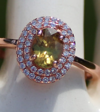Yellow Sapphire .90ct,Rose Gold Ring,Natural,Umba Valley,Untreated,Oval,VVS/IF,
