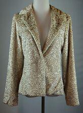 Wendy Hil Size Large Faux Fur Persian Lamb Jacket Blazer One Hook