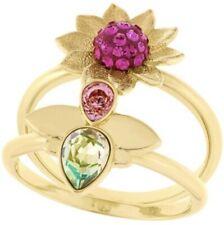 Genuine Authentic Swarovski Bloom Rings Set Gold Plated 5080959 MIB Size 58