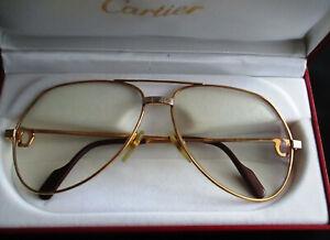 """ must de Cartier "" Brille Vendome Santos , 62 - 14 / 140, gold"